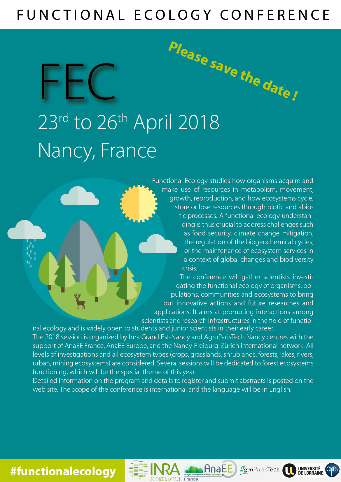 Annoucement of Functional Ecology Conference 2018