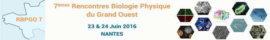 7e Rencontres de biologie physique du Grand-Ouest (RBPGO)